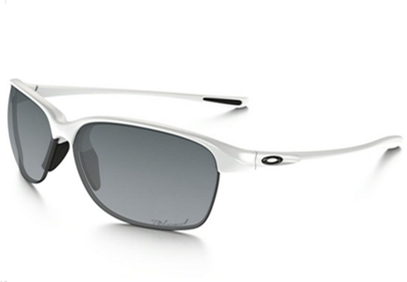 a frame oakley lenses rnv0  Oakley Unstoppable Polarized sunglasses polished white frame / Gray  Gradient Polarized lens