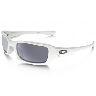 55c3fdbc77 Outlet Oakley Fives Squared Polarized sunglasses Polished White ...