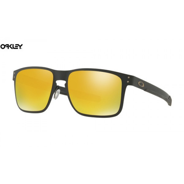 14eea2e23c0 Cheap Oakley Holbrook Metal sunglasses Matte Black frame   24k ...