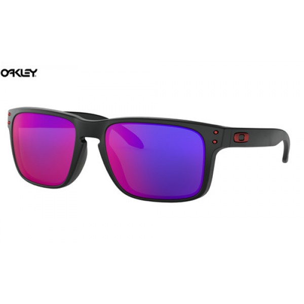 96f03c3e260 Cheap Oakley Holbrook sunglasses Matte Black frame   Positive Red ...