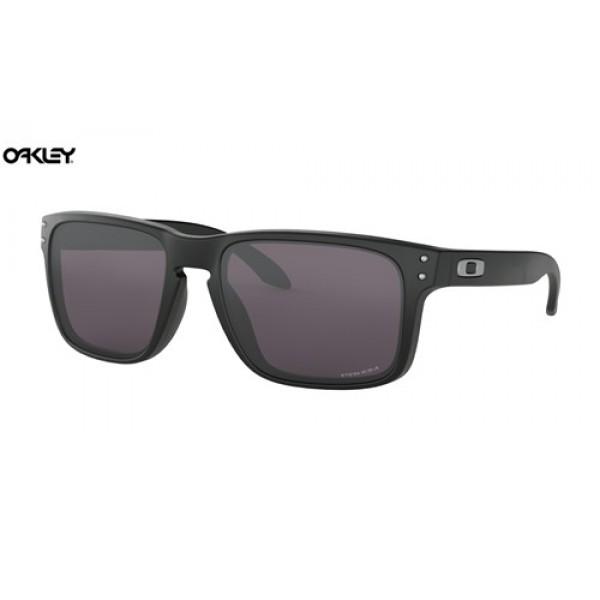 9fbe22a800 Discount Oakley Holbrook sunglasses Matte Black frame   Prizm Grey ...
