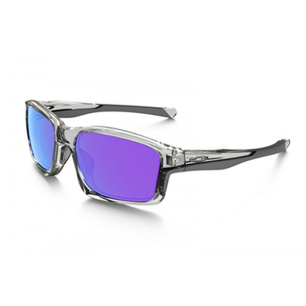 ed6e9a3609 fake Oakley Chainlink sunglasses polished clear frame   violet ...