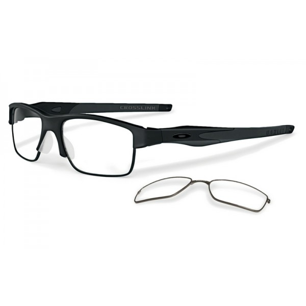 55f19f795c9bb Best fake Oakley Crosslink Switch eyewear Satin Black frame   Clear ...
