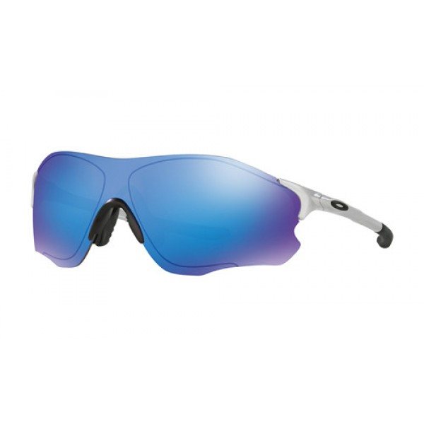 a282fb9989 Fake Oakley EVZero Path sunglasses Silver frame   Sapphire Iridium ...