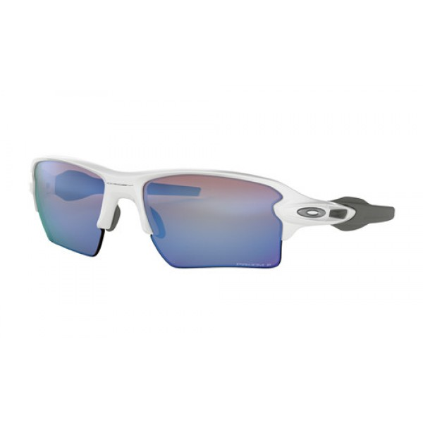 9b92a9870f Fake Oakley Flak 2.0 XL sunglasses Polished White frame   Prizm Deep ...