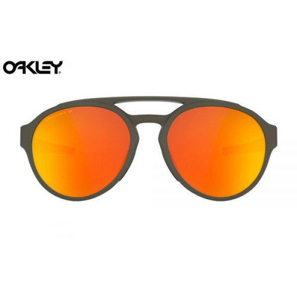 a56be2eb2c Fake Oakley Forager sunglasses Matte Olive frame   Prizm Ruby ...