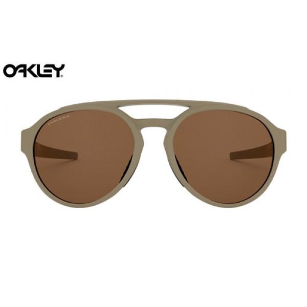 0b58dafbf8 Fake Oakley Forager sunglasses Matte Terrain Tan frame   Prizm ...