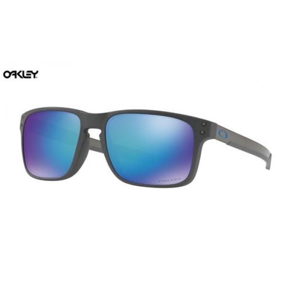 Fake Oakley Holbrook Mix sunglasses Steel frame / Prizm Sapphire ...