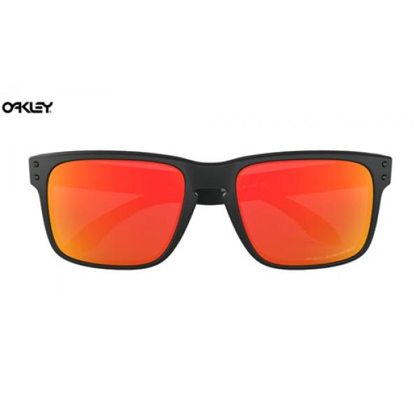 4b9d84f23d7 Fake Oakley Holbrook sunglasses Matte Black frame   Ruby Iridium ...