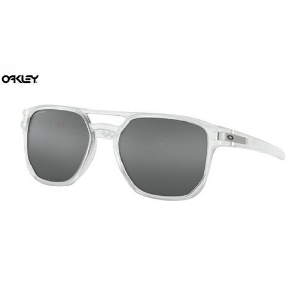 201b0b1fd4 Fake Oakley Latch Beta sunglasses Matte Clear frame   Prizm Black ...