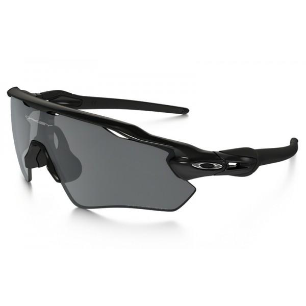 29a558c739b Fake Oakley Radar EV Path Polarized sunglasses Polished Black frame ...