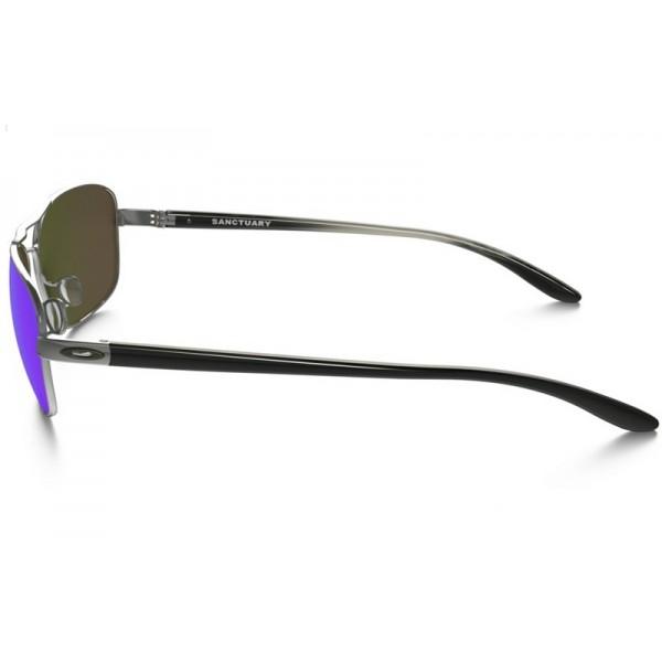 d736fcbac16a0 discount Oakley Sanctuary sunglasses Gunmetal frame   Sapphire ...