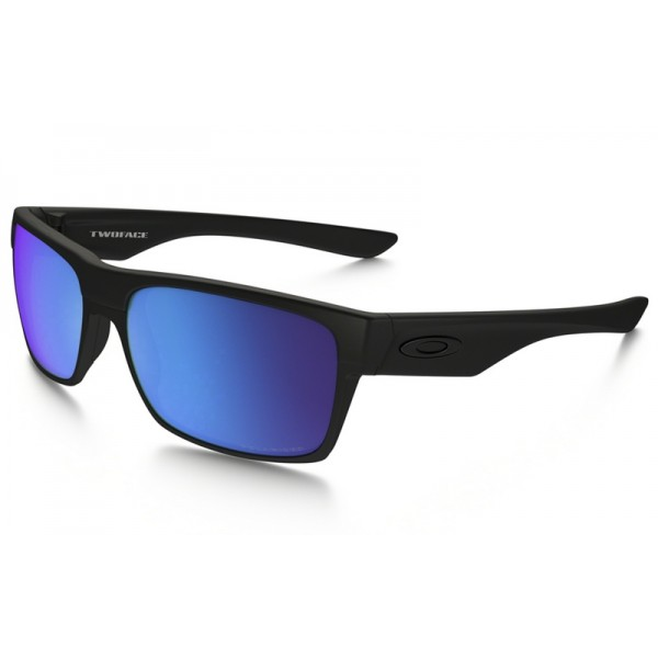 ee8025d752b Replica Oakley TwoFace Polarized sunglasses Matte Black frame ...