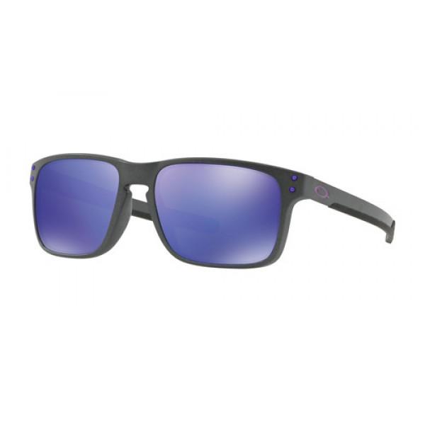 Knockoff Oakley Holbrook Mix sunglasses Steel frame / Violet Iridium ...