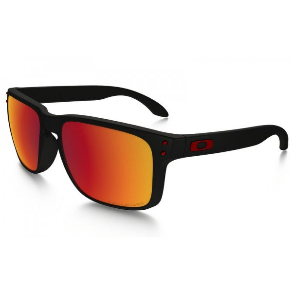 3931a4c2231 Fake Oakley Holbrook Polarized sunglasses Matte Black frame   Torch ...
