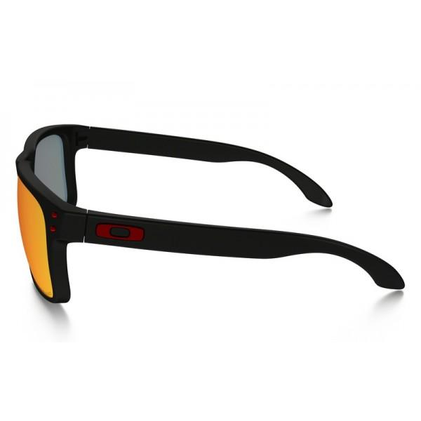 ebeaafc68c5 Fake Oakley Holbrook Polarized sunglasses Matte Black frame   Torch ...