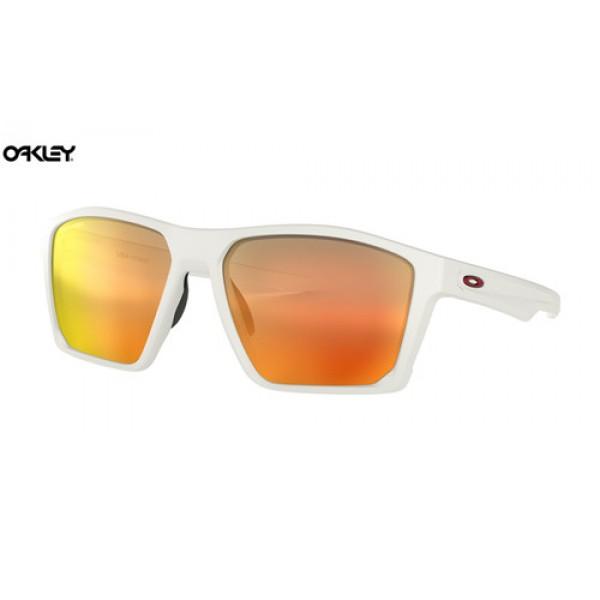 Replica Oakley Targetline sunglasses Matte White frame / Prizm Ruby ...