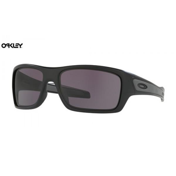 acd9c1116b Replica Oakley Turbine sunglasses Matte Black frame   Warm Grey lens ...